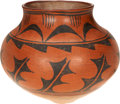 American Indian Art:Pottery, A SAN ILDEFONSO BLACK-ON-RED STORAGE JAR. c. 1900...