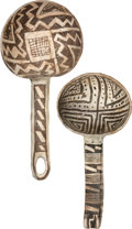 American Indian Art:Pottery, TWO ANASAZI BLACK-ON-WHITE LADLES. c. 1000 - 1200 A.D.... (Total: 2Items)