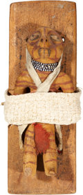 American Indian Art:Pottery, A MOHAVE POLYCHROME POTTERY DOLL. c. 1885...
