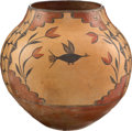 American Indian Art:Pottery, A LARGE ZIA POLYCHROME STORAGE JAR. c. 1925...