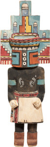 American Indian Art:Kachina Dolls, A HOPI COTTONWOOD KACHINA DOLL. c. 1950...