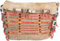American Indian Art:Beadwork and Quillwork, A SIOUX BEADED AND QUILLED HIDE TIPI BAG. c. 1885...
