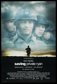 "Saving Private Ryan (Paramount, 1998). One Sheet (27"" X 40"") DS"