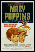 "Movie Posters:Fantasy, Mary Poppins (Buena Vista, R-1973). One Sheet (27"" X 41"") Style A.Fantasy. Starring Julie Andrews, Dick Van Dyke, David Tom..."
