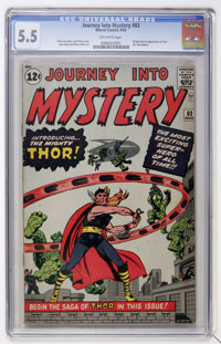 Journey Into Mystery #83 (Marvel, 1962) CGC FN- 5.5 Off-white pages