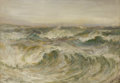 Fine Art - Painting, European:Antique  (Pre 1900), John Falcone Slater (British, 1857-1940). . Raging Sea. 1911. Oil on panel. Signed to the lower right J.F.Slat...