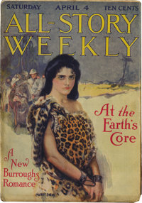"""All-Story Weekly """"At the Earth's Core"""" Group (Munsey, 1914) Condition: Average VG"""