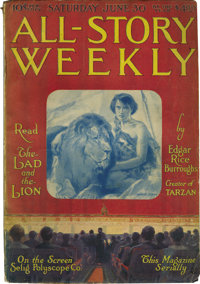 """All-Story Weekly """"The Lad and the Lion"""" Group (Munsey, 1917) Condition: Average VG"""