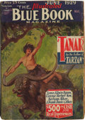 Pulps:Miscellaneous, Blue Book Edgar Rice Burroughs Group (McCall Co., 1929-38) Condition: Average GD/VG.... (Total: 7 Comic Books)