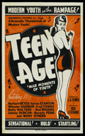 """Movie Posters:Drama, Teen Age (Continental, 1944). One Sheet (27"""" X 41""""). Drama. ..."""