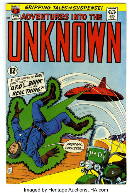 Adventures Into The Unknown #174 (ACG, 1967) Condition: VF+....