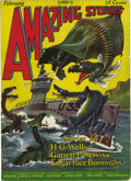 Pulps:Miscellaneous, Amazing Stories V1#11 (Ziff-Davis, 1927) Condition: VG/FN....