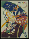 "Movie Posters:Animated, Saludos Amigos (RKO, 1947). French Petite (23.5"" X 31.5"") FirstPost-War Release. Animated. ..."
