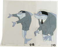 """""""Fish Police"""" - Pearl Animation Production Drawing Original Art, Group of 3 (Hanna-Barbera, 1992).... (Total:..."""