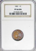 Proof Indian Cents, 1881 1C PR66 Brown NGC....