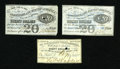 Confederate Notes:Group Lots, Three Confederate Bond Coupons.. . ... (Total: 3 items)