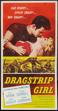 "Movie Posters:Bad Girl, Dragstrip Girl (American International, 1957). Three Sheet (41"" X81""). Bad Girl.. ..."