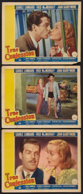 """Movie Posters:Comedy, True Confession (Paramount, 1937). Lobby Cards (3) (11"""" X 14"""").Comedy.. ... (Total: 3 Items)"""