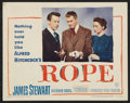 """Movie Posters:Hitchcock, Rope (Warner Brothers, 1948). Lobby Card (11"""" X 14""""). Hitchcock....."""