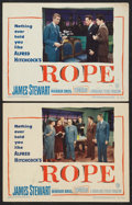 """Movie Posters:Hitchcock, Rope (Warner Brothers, 1948). Lobby Cards (2) (11"""" X 14"""").Hitchcock.. ... (Total: 2 Items)"""