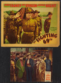 "Movie Posters:War, The Fighting 69th Lot (Warner Brothers, 1940). Lobby Cards (2) (11""X 14"" and 8"" X 10""). War.. ... (Total: 2 Items)"