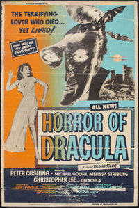 "Horror of Dracula (Universal International, 1958). Poster (40"" X 60""). Horror"