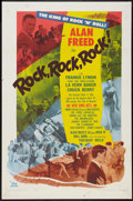 "Movie Posters:Rock and Roll, Rock, Rock, Rock (DCA, 1956). One Sheet (27"" X 41""). Rock andRoll.. ..."