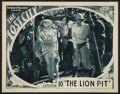 "Movie Posters:Serial, The Lost City (Super Serial Productions, 1935). Lobby Card (11"" X 14"") Episode 10 -- ""The Lion Pit."" Serial.. ..."