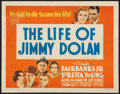 "Movie Posters:Adventure, The Life of Jimmy Dolan (Warner Brothers, 1933). Title Lobby Card(11"" X 14""). Adventure.. ..."