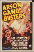 """Movie Posters:Crime, Arson Gang Busters (Republic, 1938). One Sheet (27"""" X 41""""). Crime....."""