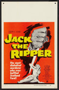 "Movie Posters:Mystery, Jack the Ripper (Paramount, 1960). Window Card (14"" X 22"").Mystery.. ..."