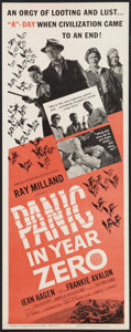 """Movie Posters:Science Fiction, Panic in Year Zero (American International, 1962). Insert (14"""" X 36""""). Science Fiction.. ..."""
