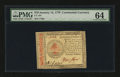 Colonial Notes:Continental Congress Issues, Continental Currency January 14, 1779 $70 PMG Choice Uncirculated 64....