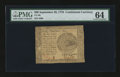 Colonial Notes:Continental Congress Issues, Continental Currency September 26, 1778 $60 PMG Choice Uncirculated64....