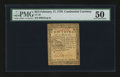 Colonial Notes:Continental Congress Issues, Continental Currency February 17, 1776 $2/3 PMG About Uncirculated50....