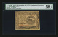 Colonial Notes:Continental Congress Issues, Continental Currency November 29, 1775 $4 PMG Choice About Unc 58 EPQ....