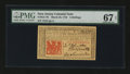 Colonial Notes:New Jersey, New Jersey March 25, 1776 6s PMG Superb Gem Unc 67 EPQ....