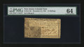 Colonial Notes:New Jersey, New Jersey December 31, 1763 12s PMG Choice Uncirculated 64....