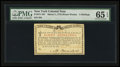 Colonial Notes:New York, New York March 5 , 1776 (Water Works) 8s PMG Gem Uncirculated 65EPQ....