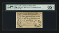 Colonial Notes:South Carolina, South Carolina April 10, 1778 3s9d PMG Gem Uncirculated 65 EPQ....