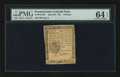 Colonial Notes:Pennsylvania, Pennsylvania April 20, 1781 9d PMG Choice Uncirculated 64 EPQ....