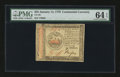 Colonial Notes:Continental Congress Issues, Continental Currency January 14, 1779 $35 PMG Choice Uncirculated 64 EPQ....