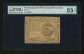 Colonial Notes:Continental Congress Issues, Continental Currency February 26, 1777 $4 PMG About Uncirculated 55EPQ....