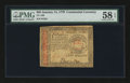 Colonial Notes:Continental Congress Issues, Continental Currency January 14, 1779 $65 PMG Choice About Unc 58EPQ....