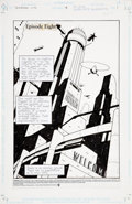 Original Comic Art:Splash Pages, Michael Lark Terminal City #8 Fantastic Retro ArchitectureSplash Page 1 Original Art (Vertigo, 1997)....