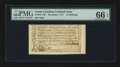 Colonial Notes:North Carolina, North Carolina December, 1771 10s PMG Gem Uncirculated 66 EPQ....