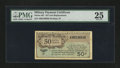 Military Payment Certificates:Series 461, Series 461 50¢ Replacement PMG Very Fine 25....