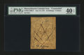Colonial Notes:Massachusetts, Massachusetts June 18, 1776 24s Contemporary Counterfeit PMG Extremely Fine 40 EPQ....