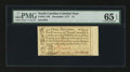 Colonial Notes:North Carolina, North Carolina December, 1771 £1 PMG Gem Uncirculated 65 EPQ....