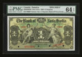 Canadian Currency: , Kingston, Jamaica- The Bank of Nova Scotia £1 Jan. 2, 1900 Ch. # 550-38-02-02S Specimen. ...